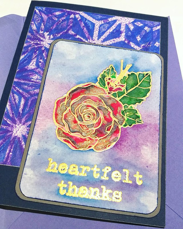 Heartfelt thanks 💖 A card made with @stamplorations stamps and @pfeifferartsupply and @clovesandhoney watercolors. Have a great thanksgiving to those whom celebrate it 💖 _________ #thankyou #thankyounotes #thankyoucards #he