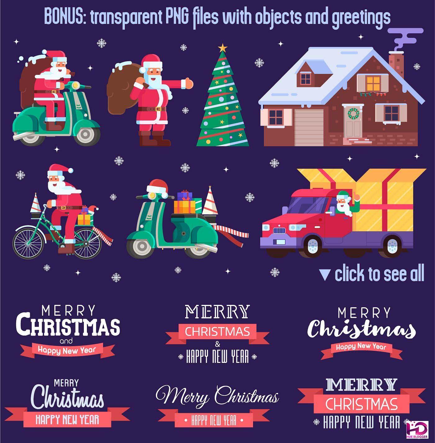 6 bộ Vector thiết kế thiệp Giáng Sinh tuyệt đẹp 6 bộ Vector thiết kế thiệp Giáng Sinh tuyệt đẹp