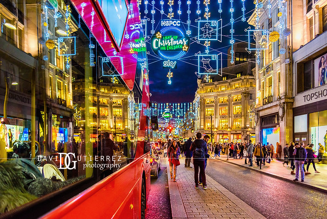 Shape Of Christmas - Oxford Street, London, UK