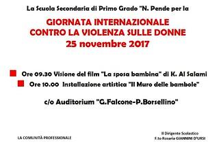 Noicattaro. Giornata contro violenza donne Pende front