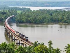TVC- H.NZM Rajdhani express banks over Sharavathi river bridge.