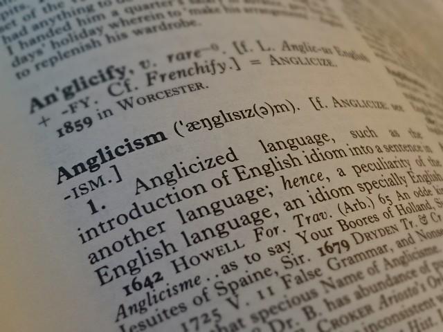 Header of Anglicism