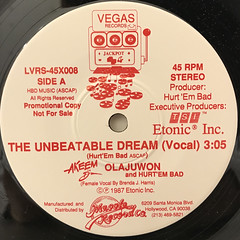 AKEEM THE DREAM:THE UNBEATABLE DREAM(LABEL SIDE-A)