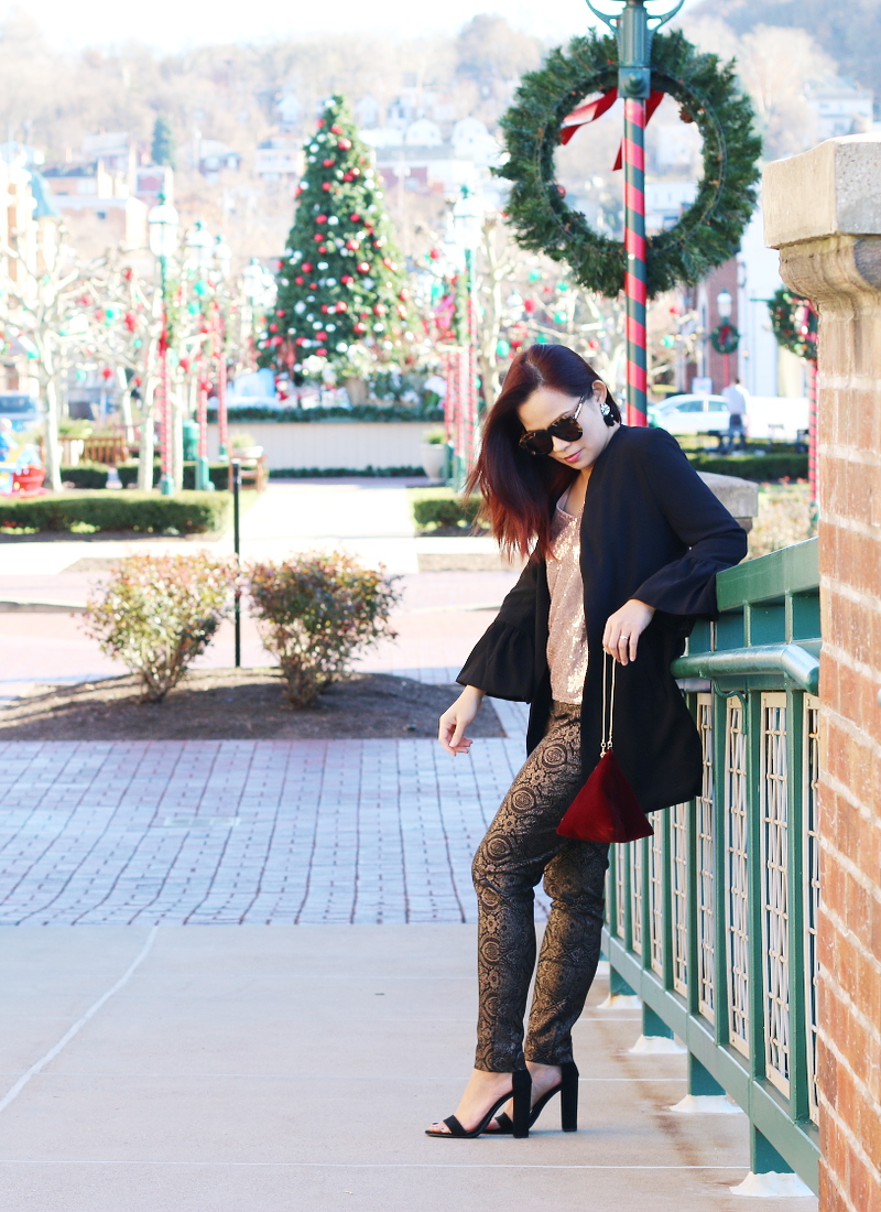 holiday-outfit-black-blazer-metallic-pants-sequins-top-1
