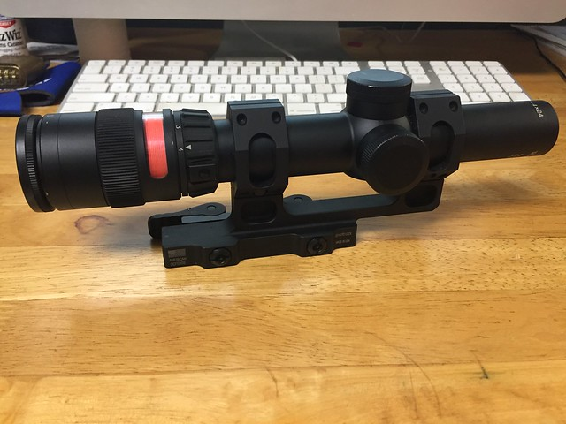 wts trijicon tr24 1 4x24mm red triangle with american defense mount
