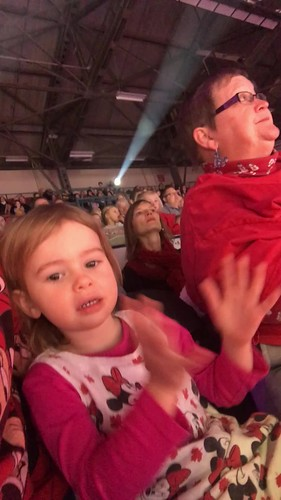 Ezri loving Disney On Ice: Follow Your Heart