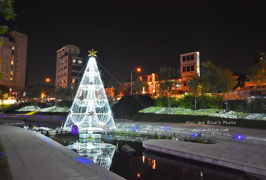 柳川藍帶水岸.聖誕節.台中景點11
