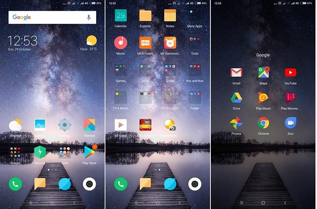 Tampilan antarmuka MiUI 9 pada Xiaomi Mi MIX 2 (Liputan6.com/ Agustin Setyo W)