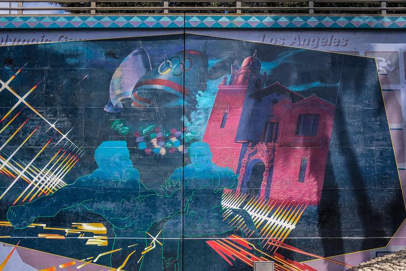 Olympic Games, Freeway Mural, Los Angeles 9/10/17