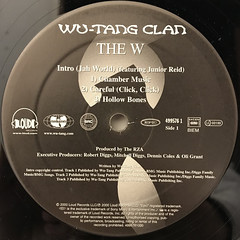 WU-TANG CLAN:THE W(LABEL SIDE-A)