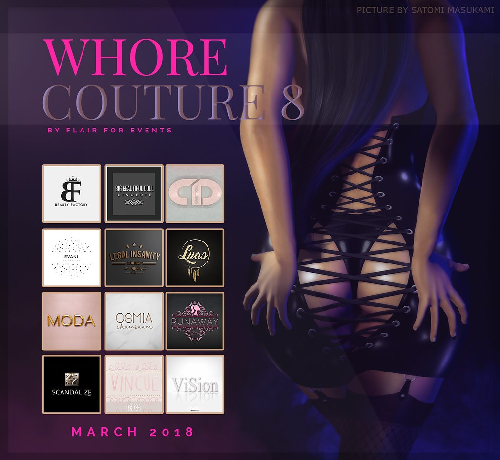 Whore Couture Fair 8 - APPLY NOW! - TeleportHub.com Live!