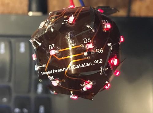 Catalan polyhedron flex PCB