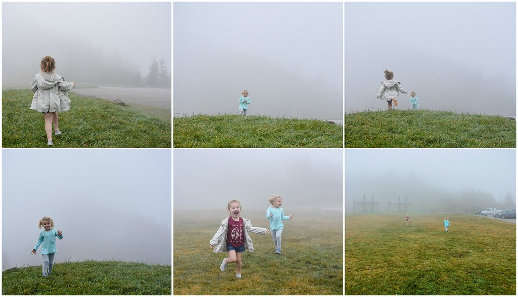 playing in the fog