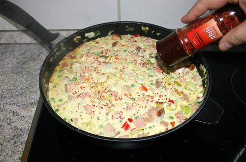 48 - Mit Chiliflocken abschmecken / Taste with chili flakes