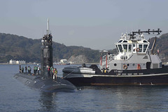 In this file photo, USS Mississippi (SSN 782) approaches the pier at Fleet Activities Yokosuka during a visit in November. (U.S. Navy/MC2 Brian G. Reynolds)