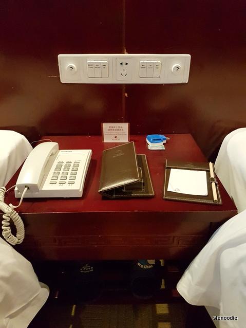 Fengting International Hotel nightstand