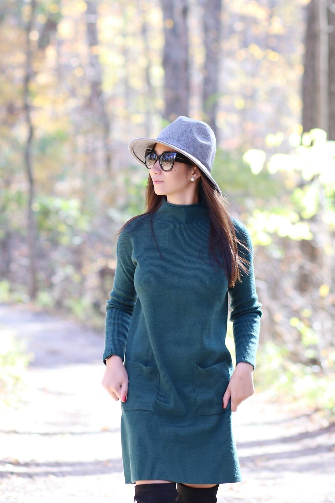 GreenSweaterDress_SydneysFashionDiary