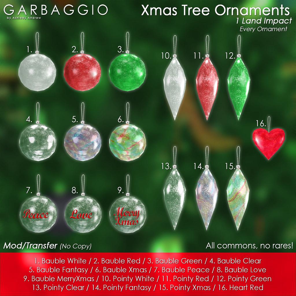 Xmas Tree Ornaments 2017