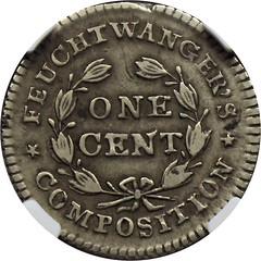 1837 Feuchtwanger Cent reverse