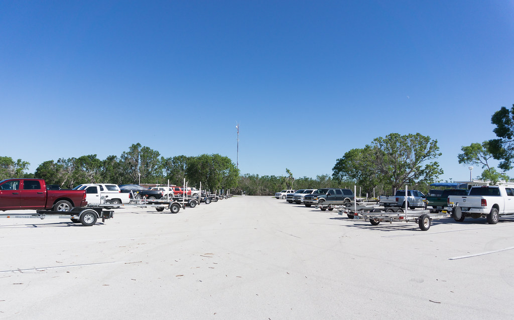 One of the Parking Lots Full of Boats and Trailers at Flamingo Marina, Everglades National Park, Nov. 25, 2017.