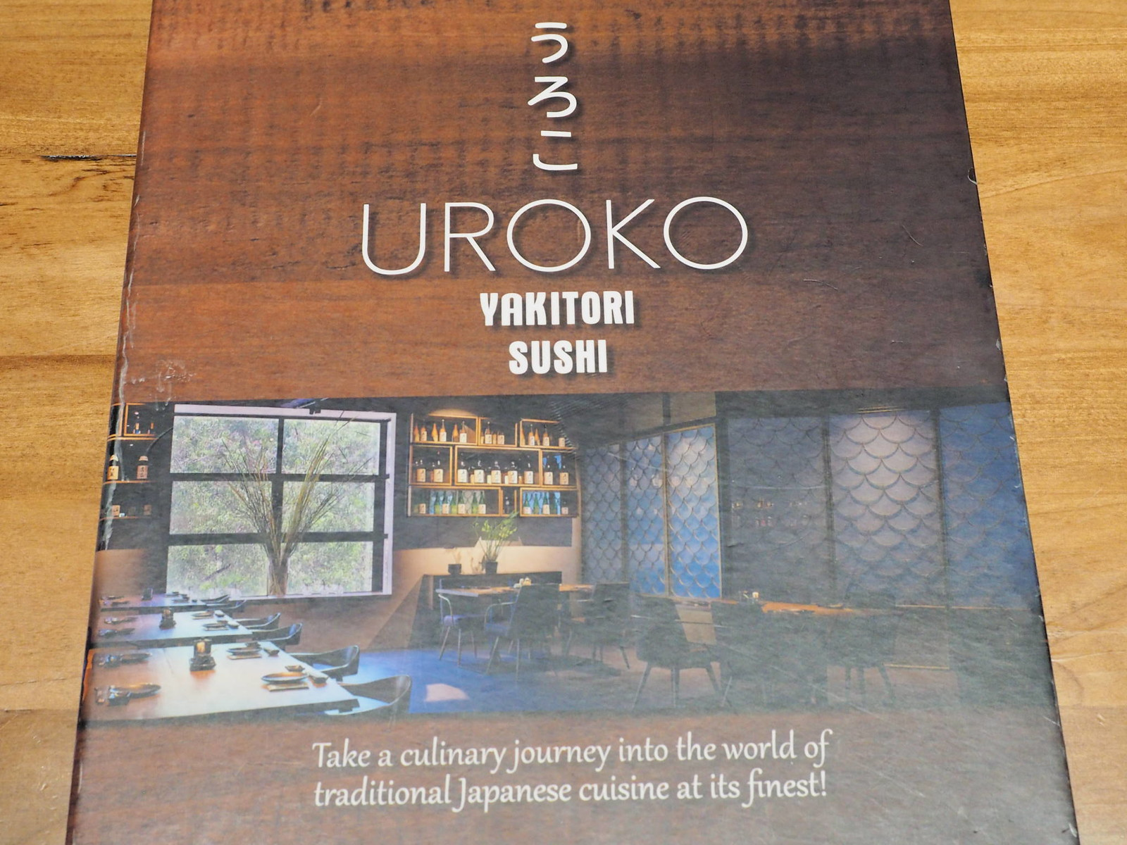 The menu of Uroko Japanese Cuisine at Section 17, Petaling Jaya