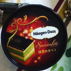 matcha opera❤︎ ・ ・ ・ #ハーゲンダッツ #抹茶オペラ #大阪 #haagendazs #matcha #opera #icecream #osaka #japan #アイス