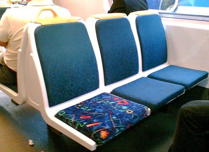 New train seat cover, 2007