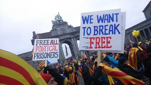 Manifestation de soutien à la révolte des masses en Catalogne