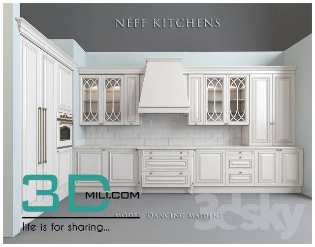 04. Neff Kitchen 3D Models and Textures - 3D Mili - Download 3D ...