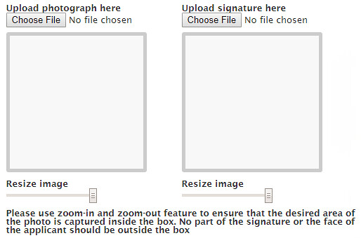 Upload Photo and Signature