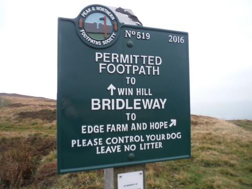 Footpath Sign on Hope Brink