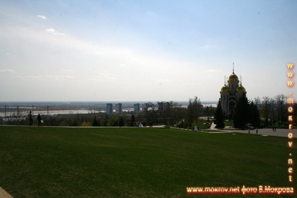 фотография с Мамаева кургана на Волгоград.