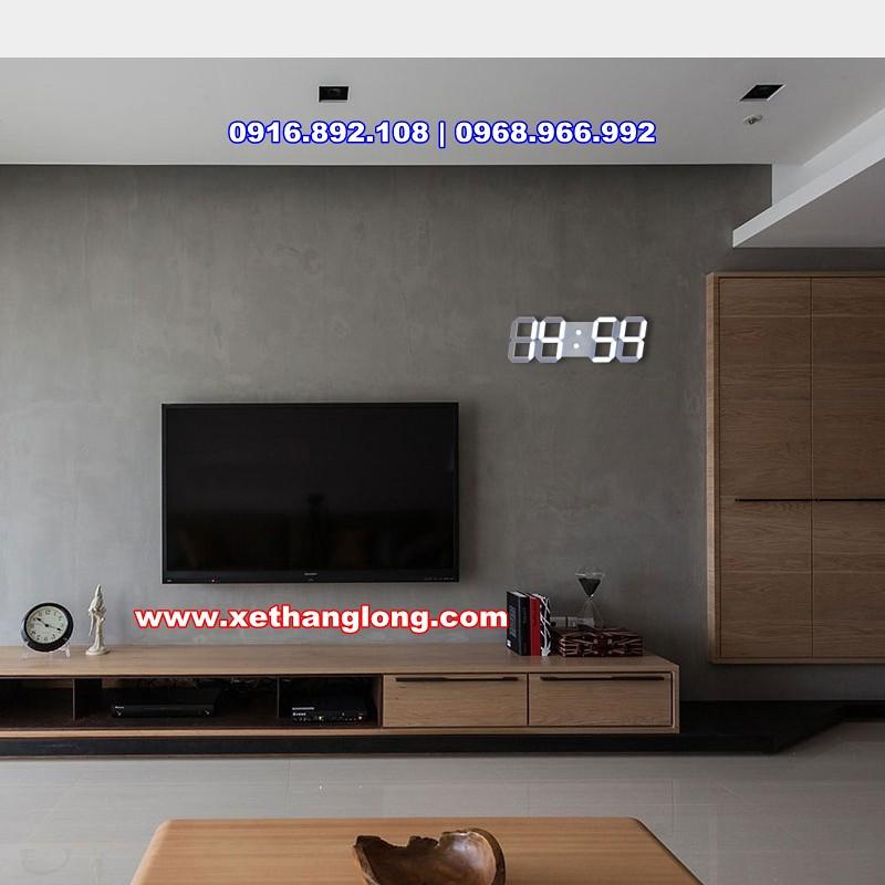 Đồng hồ LED treo tường phòng khách