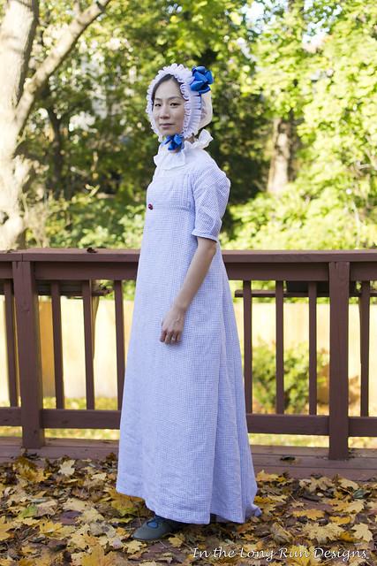 Checked Regency Dress