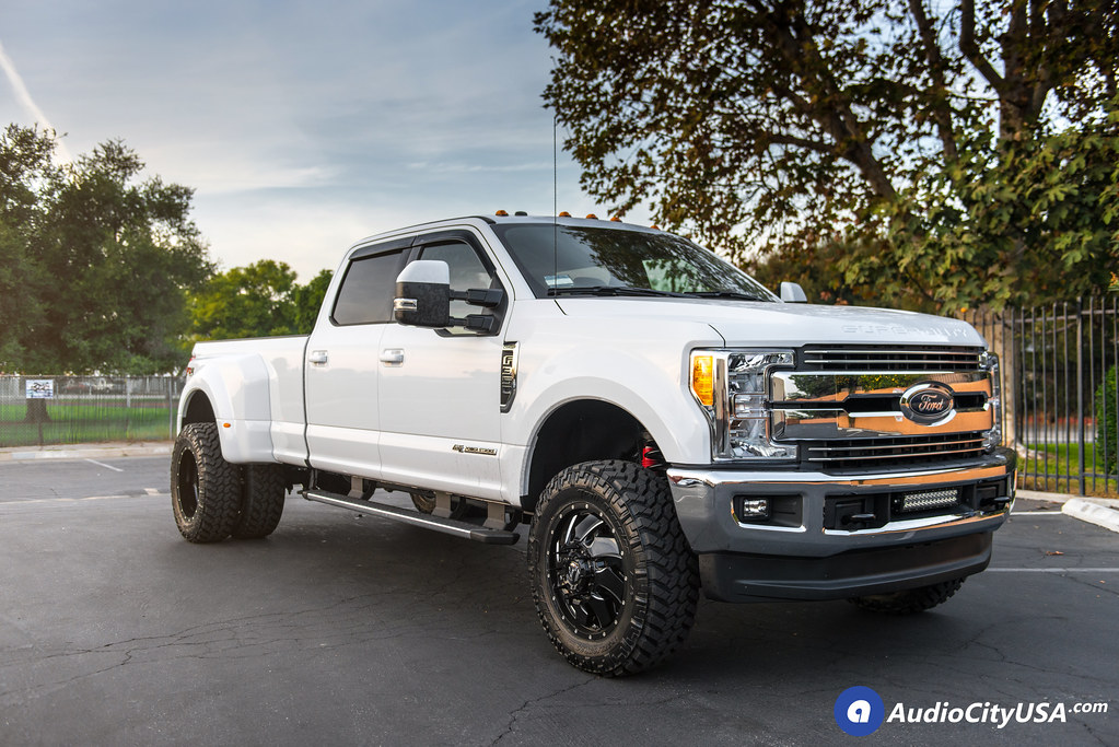 "F350 Dually Wheels >> 2018 Ford F-350 Dually Super Duy | 20"" Fuel Wheels Cleaver D574 Gloss Black Milled Windows 