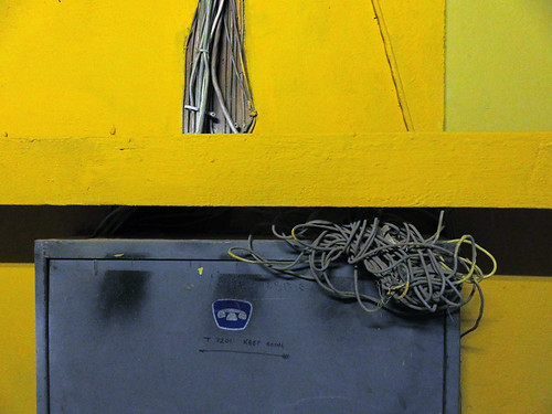 Electrical wiring at 1000 Parker St in Vancouver, Canada