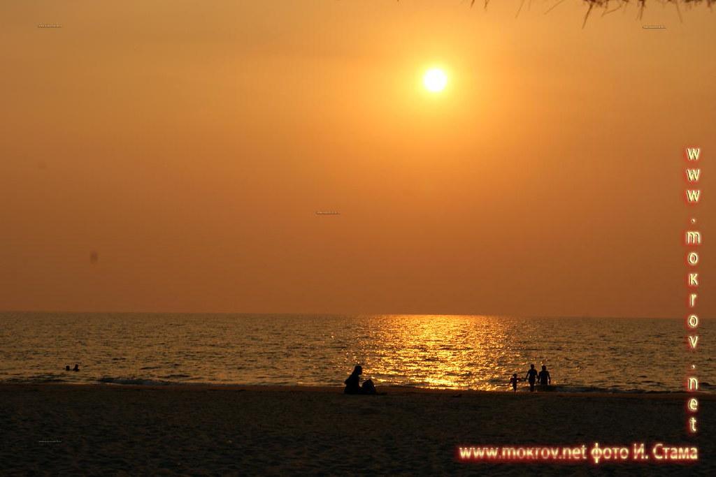 Закат Индийский океан.
