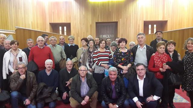 Representantes das asociacións veciñais de As Pontes visitan o Parlamento de Galicia