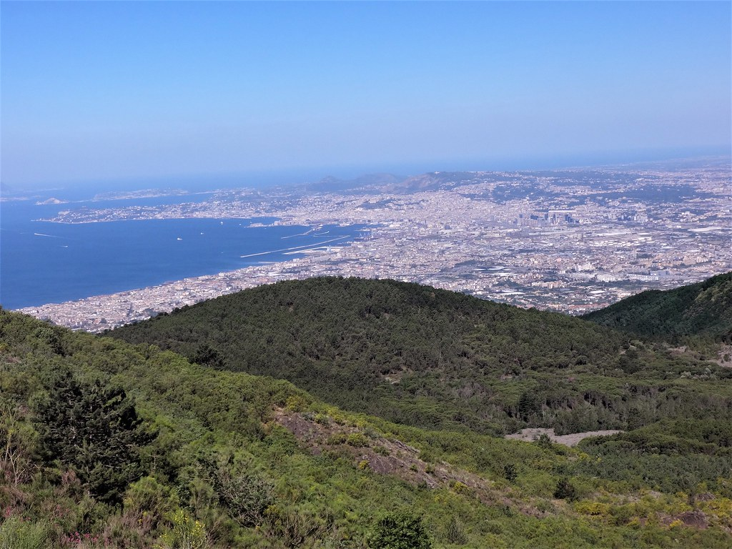 View from Vesuvio to Naples, Italy
