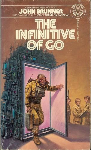 Infinitive of Go - John Brunner - cover artist Darrell K. Sweet