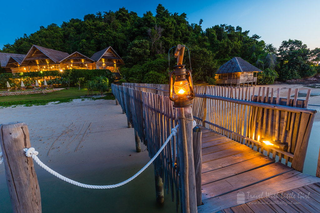 Blue hour at Telunas Private Island