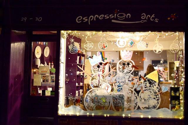 Expressions Christmas Windows, Canterbury #christmas