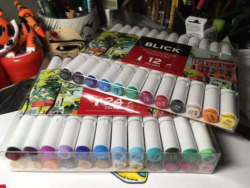 Blick illustrator Alcohol markers set of 12 and 24
