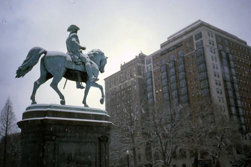 George Washington, Public Garden, Ritz-Carlton, Boston - Ektachrome
