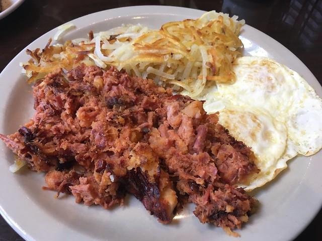 Homemade corned beef hash - Island Cafe