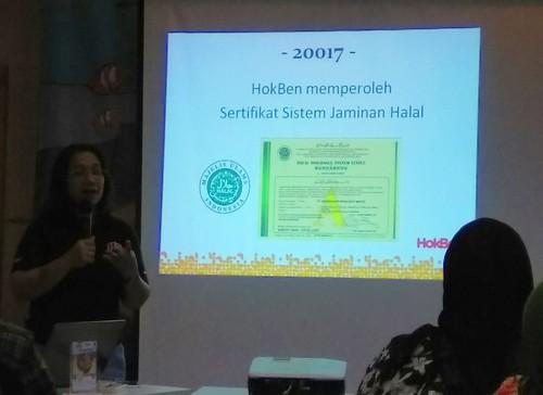 Sertifikat sistem jaminan halal Hokben