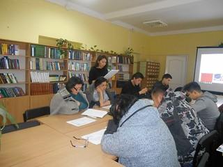 Заняття в клубі з вивчення казахської мови. 25.11.17. ім. Джамбула Джабаєва
