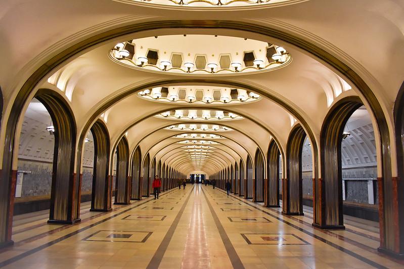 Mayakovskaya Metro Station (Green Line)