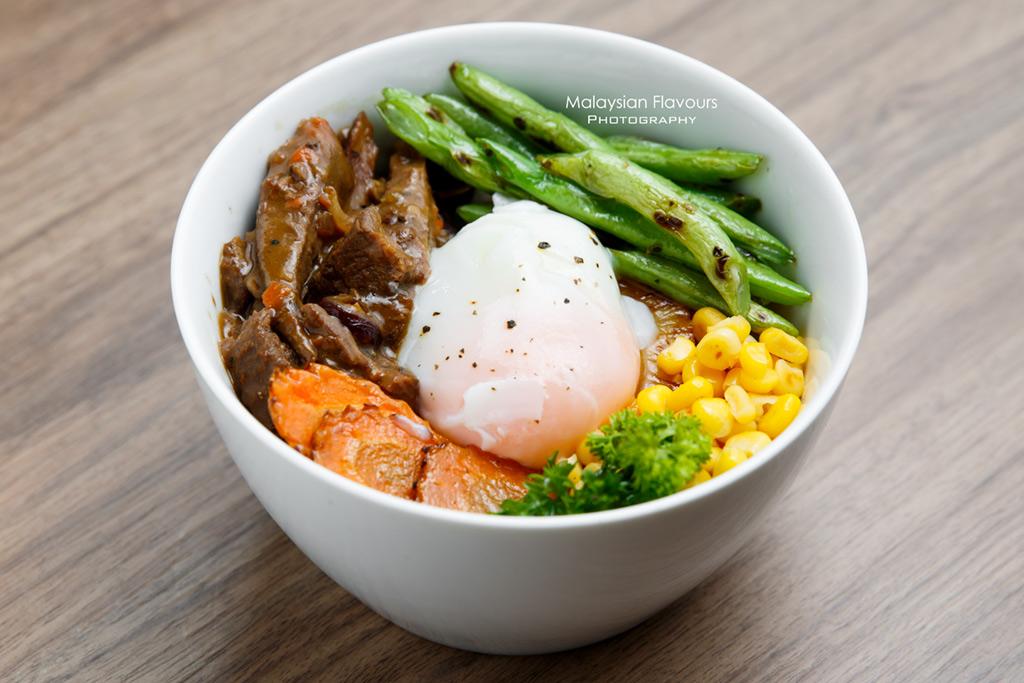 mushroom stoganoff rice bowl