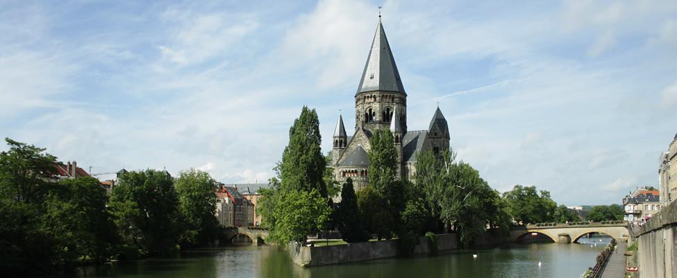 Stedentrip Metz, bezienswaardigheden Metz: Temple Neuf | Mooistestedentrips.nl